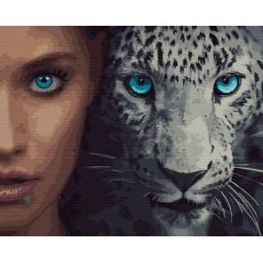 Дикие. Леопард Раскраска картина по номерам на холсте ZX 23398