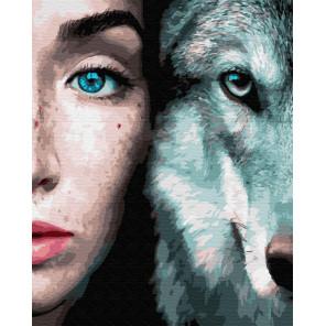 Дикие. Волк Раскраска картина по номерам на холсте ZX 23269