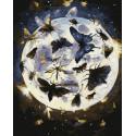 Лунные бабочки Раскраска картина по номерам на холсте ZX 23291