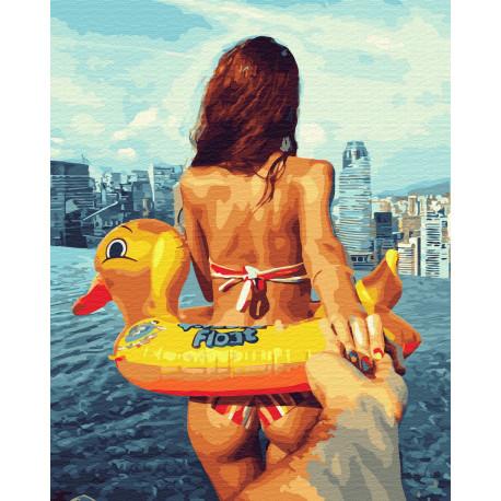 Следуй за мной. Море Раскраска картина по номерам на холсте ZX 23353