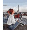 Я буду ждать тебя на крыше! Раскраска картина по номерам на холсте ZX 23791