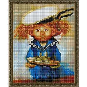 Ангел- морячок Алмазная вышивка мозаика на подрамнике EQ10385