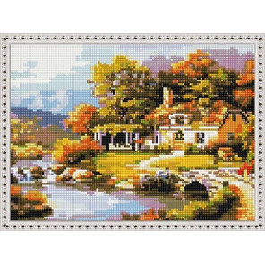 Осенний домик Алмазная вышивка мозаика на подрамнике EQ10333
