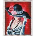 Шляпка с цветами Алмазная вышивка мозаика на подрамнике EQ10358