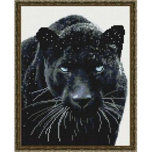 Черная хищница Алмазная вышивка мозаика на подрамнике EQ10363