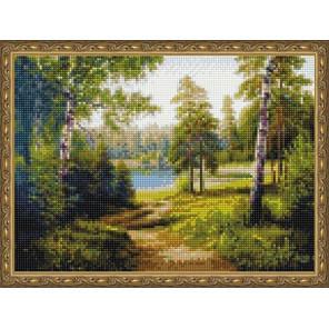 Тропинка в лесу Алмазная вышивка мозаика на подрамнике EQ10294