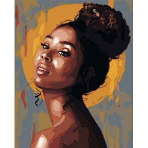 Африканская модель Раскраска картина по номерам на холсте PK72007