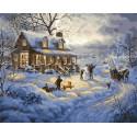 Зимние игры Раскраска картина по номерам на холсте PK72056
