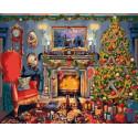 В ожидании Рождества Раскраска картина по номерам на холсте PK72036