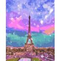 Красочный Париж Раскраска картина по номерам на холсте PK72030