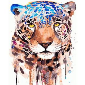 Акварельный леопард Раскраска картина по номерам на холсте PK72021