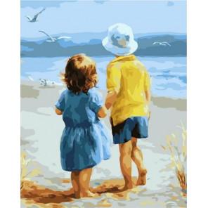 Брат и сестра Раскраска картина по номерам на холсте PK72020