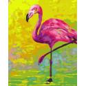 Африканский фламинго Раскраска картина по номерам на холсте PK72005