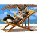 Отдых на пляже Раскраска картина по номерам на холсте PKC72076