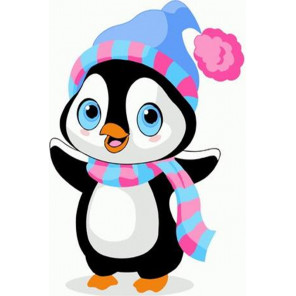 Пингвиненок Раскраска картина по номерам на холсте PKD72066