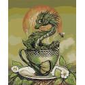 Хранитель зелёного чая. Дракон Раскраска картина по номерам на холсте AAAA-JV4