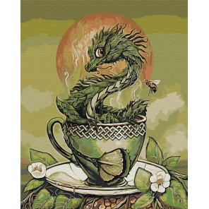 Пример в интерьере Хранитель зелёного чая. Дракон Раскраска картина по номерам на холсте AAAA-JV4-80x100
