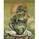 Хранитель зелёного чая. Дракон Раскраска картина по номерам на холсте AAAA-JV4-80x100