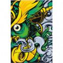 Желто-зеленая абстракция 100х150 Раскраска картина по номерам на холсте