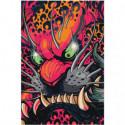 Маска злого красного дракона Раскраска картина по номерам на холсте