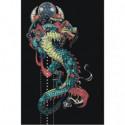 Японский дракон 80х120 Раскраска картина по номерам на холсте