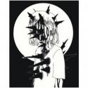 Колючая девушка 80х100 Раскраска картина по номерам на холсте