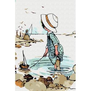 Увлекательная рыбалка Раскраска по номерам на холсте KH0889