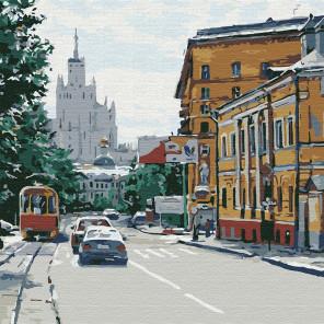 Московская улица Раскраска картина по номерам на холсте KHM0042