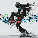 Танцор hip-hop Раскраска картина по номерам на холсте KHM0044