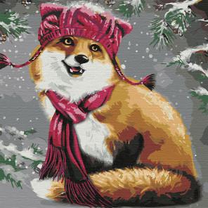 Забавный лисёнок Раскраска картина по номерам на холсте KHM0046