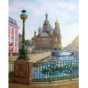 Спас на крови. Санкт-Петербург Раскраска картина по номерам на холсте KH0626