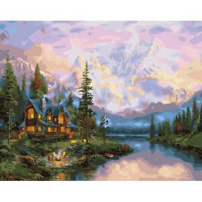 Дом на реке Раскраска картина по номерам на холсте KH0636