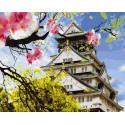 Японская весна Раскраска картина по номерам на холсте KH0642