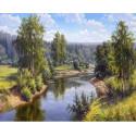 Проточная река Раскраска картина по номерам на холсте KH0646