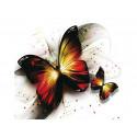 Утренние бабочки Алмазная частичная вышивка (мозаика) Molly KM0881