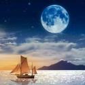 Ночь над морем Алмазная мозаика вышивка на подрамнике Molly KM0673