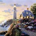 Сказочный маяк Алмазная мозаика вышивка на подрамнике Molly KM0674