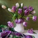 Букет с тюльпанами Алмазная мозаика вышивка на подрамнике Molly KM0681