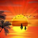 Красивый закат Алмазная мозаика вышивка на подрамнике Molly KM0689
