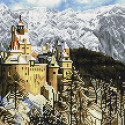 Замок Дракулы в Румынии Алмазная мозаика вышивка на подрамнике Molly KM0695
