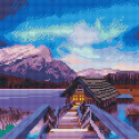 Домик на озере Алмазная мозаика вышивка на подрамнике Molly KM0696