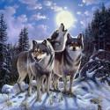 Ночное трио Алмазная мозаика вышивка на подрамнике Molly KM0697
