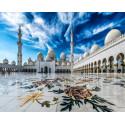 Мечеть Шейха Зайда Алмазная мозаика вышивка на подрамнике Molly KM0874