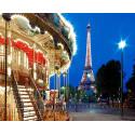 Вечерний Париж Алмазная мозаика вышивка на подрамнике Molly KM0656