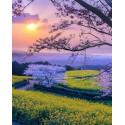 Весна в Китае Алмазная мозаика вышивка на подрамнике Molly KM0657