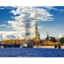 Санкт-Петербург. Петропавловская крепость Алмазная мозаика вышивка на подрамнике Molly KM0662