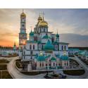 Новоиерусалимский монастырь Алмазная мозаика вышивка на подрамнике Molly KM0669