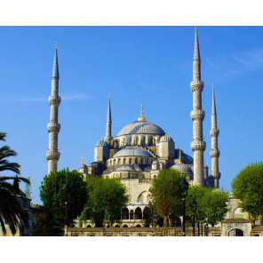 Стамбул. Голубая мечеть Алмазная мозаика вышивка на подрамнике Molly KM0862