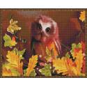 Сова осенью Алмазная мозаика вышивка на подрамнике Molly KM0865
