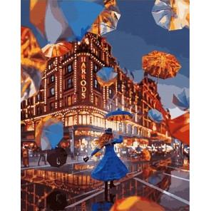Парящие зонты Раскраска картина по номерам на холсте MCA779